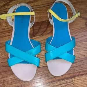 Forever 21 colorblock strappy sandals
